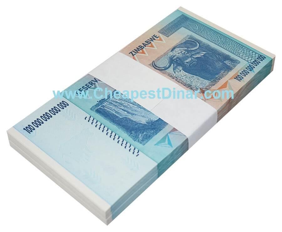 100 Trillion Zimbabwe Dollars Uncirculated