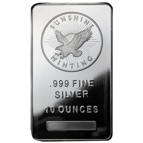10oz Sunshine Mint Silver Bar - New Mark S!