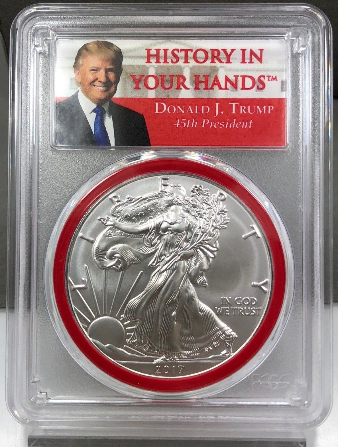 2017 Trump American Silver Eagle - First Day First Strike