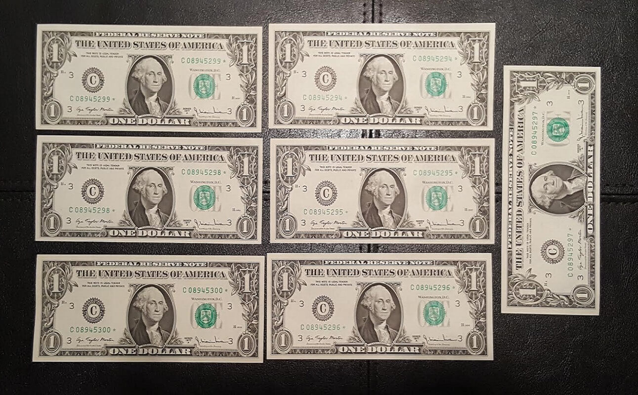$1 Star Notes, Set of 7 Consecutive - C08945294