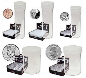 BCW - Mix Set Storage Tube w/ Cap - Clear Rnd