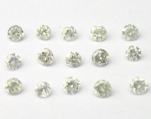 1/4 ct White Round Brilliant Cut Diamonds