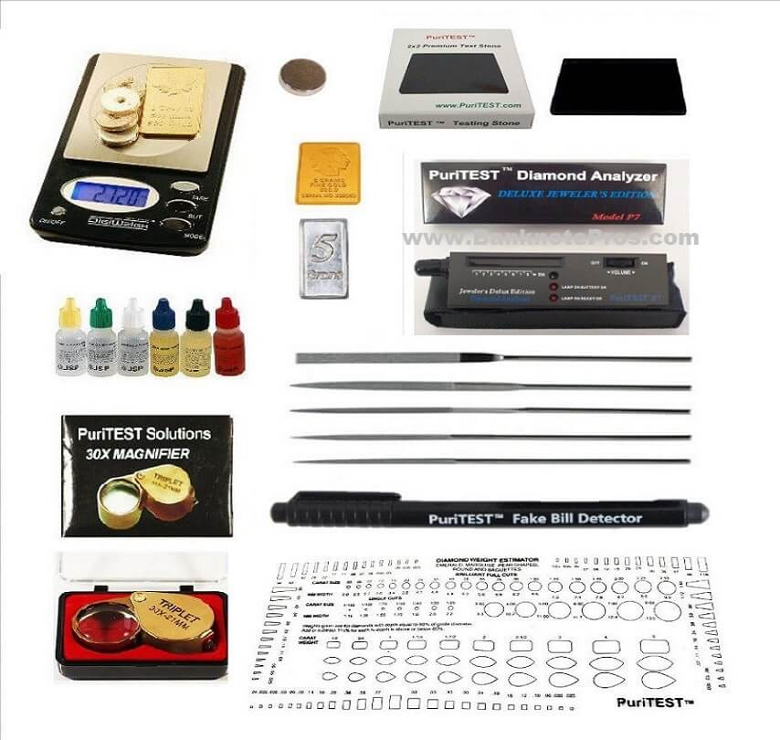 Puri-Test Gold Silver & Diamond Test Kit