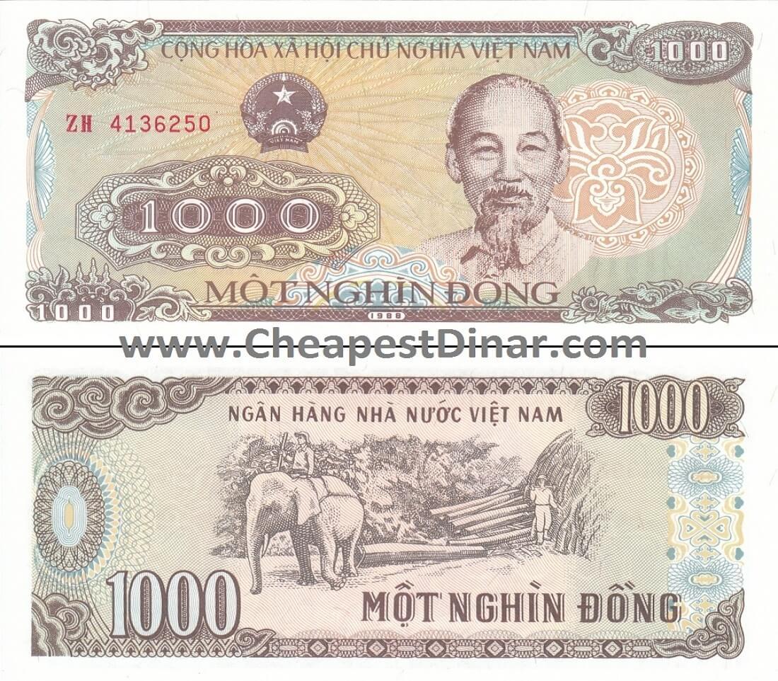 1,000 VND : Cheapest Dinar, Buy Iraqi Dinar, & Zimbabwe
