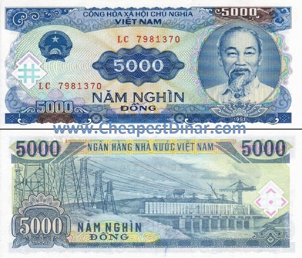 5,000 VND : Cheapest Dinar, Buy Iraqi Dinar, & Zimbabwe