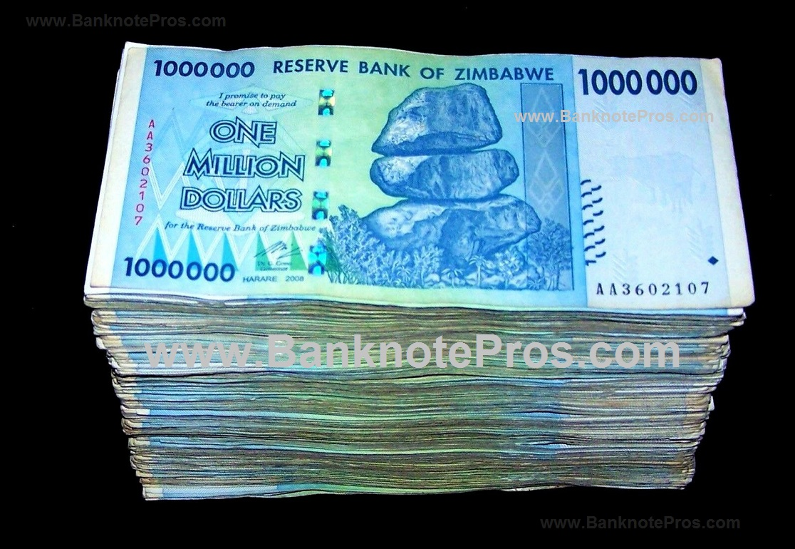 500 x 1 Million Zimbabwe Dollars - Fine Condition