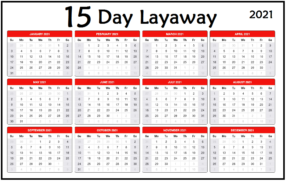 15 Day Lay-Away